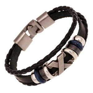 Other - ➰ Men's Leather & Stainless Steel Bracelet ➿